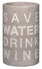 Weinkühler Vino Beton (Save Water Drink Wine)