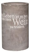 Weinkühler Vino Beton (das Leben ist zu kurz...)